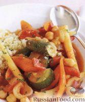 Вегетарианское овощное рагу с нутом
