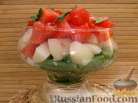 Теплый салат с зеленой фасолью и помидорами