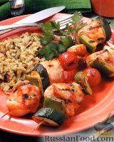 Шашлыки из индюшиного филе и овощей