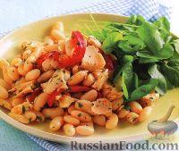 Фасолевый салат с тунцом и перцем