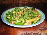 Салат с персиком