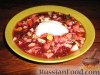 Холодный суп на свекольно-овощном отваре