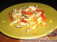 Салат со скумбрией-гриль