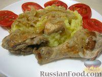 Шашлык куриный на сковороде