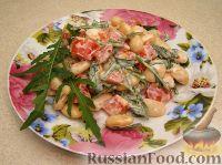 Пряный салат с фасолью