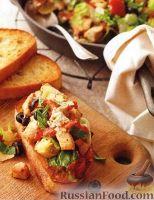 Закусочные бутерброды с куриным филе и овощами