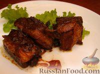 Свиные ребрышки в маринаде из меда и соевого соуса