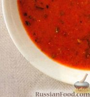 Гаспачо из помидоров, огурцов и болгарского перца