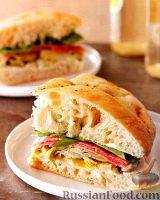 Простой бутерброд из фокаччи