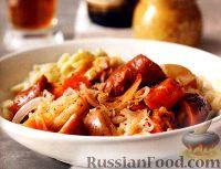 Рагу из овощей и копченой колбасы (в медленноварке)