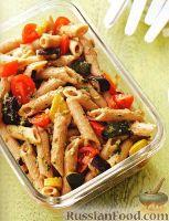 Салат из пасты и жареных овощей