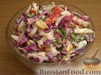 Пестрый капустный салат