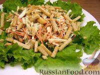 Капустный салат с сухариками