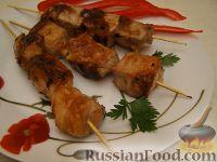Шашлык в имбирном маринаде (на сковородке)