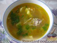 Куриный суп с перловкой и цветной капустой