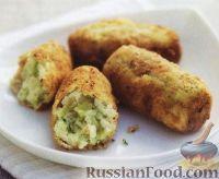 Крокеты из картофеля с луком-пореем