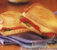 Горячий бутерброд (сэндвич) со сладким перцем и сыром