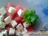Салат из арбуза и брынзы