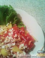 Салат из помидоров с брынзой и орехами