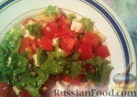 Овощной салат с брынзой и арахисом