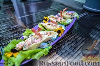 Конкильони с морепродуктами