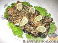 Запеченное рыбное филе в кунжуте