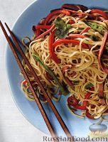 Салат из китайской лапши с овощами и птицей