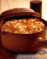 Рагу из говядины и овощей под картофельной корочкой