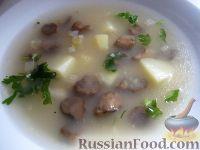 Суп грибной постный с пшеном