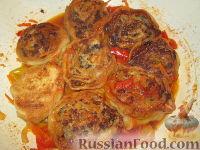 Ленивые пельмени с овощным соусом