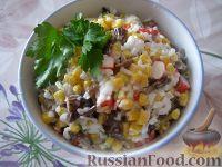Салат с крабовыми палочками (постный)