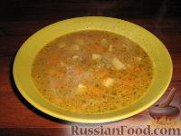 Суп с чечевицей и перловкой