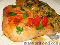 Куриные окорочка, маринованные в кефире