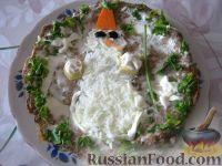 """Нежный печеночный торт """"Снеговик"""""""