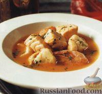 Рыбный суп с креветками
