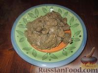 Печень с грибами и тыквой