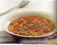 Суп из помидоров и израильского кускуса