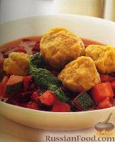 """Суп с овощами и пряными """"кубби"""" с бараниной"""