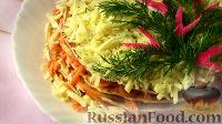 Закусочный торт из курицы с морковью
