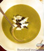Суп со спаржей и мясом крабов