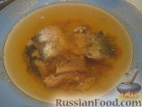 """Заливное """"Экономное"""" из консервированной рыбы"""