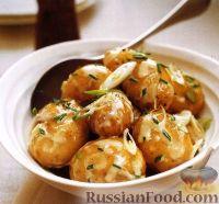 Картофельный салат с луком и майонезом