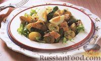 Салат с лососем и спаржей