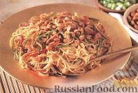 Салат из спагетти с арахисом