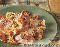 Копченый лосось в сливочном соусе