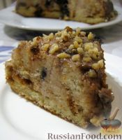 """Торт """"Панчо"""" с черносливом, сметаной и грецкими орехами"""