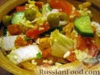 Простой салат из брынзы с овощами