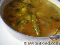 Рисовый суп с цветной капустой и спаржевой фасолью