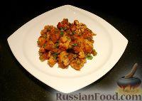 Картофель, тушённый с цветной капустой и горошком  (Aloo Matar Gobi)