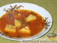 Суп с зелёным консервированным горошком